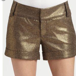 Alice + Olivia metallic shorts